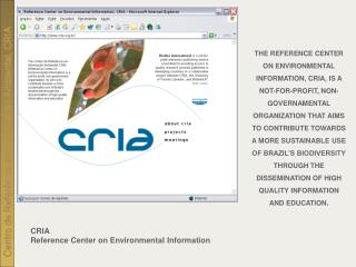 CRIA Reference Center on Environmental Information
