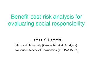 Benefit-cost-risk analysis for  evaluating social responsibility