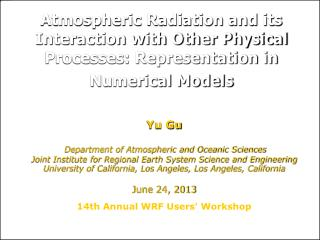 Yu Gu Department of Atmospheric and Oceanic Sciences