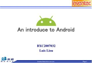 An introduce to Android