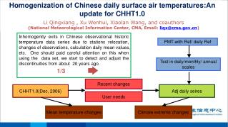 Homogenization of Chinese daily surface air temperatures :An update for CHHT1.0