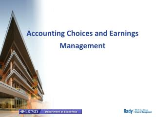 Accounting Choices and Earnings Management