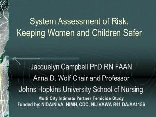 System Assessment of Risk: Keeping Women and Children Safer