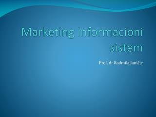 Marketing informacioni sistem
