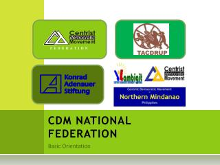 CDM NATIONAL FEDERATION
