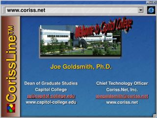 Dean of Graduate Studies Capitol College jg@capitol-college capitol-college