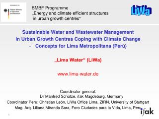 Sustainable Water and Wastewater Management in Urban Growth Centres Coping with Climate Change