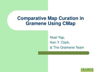 Comparative Map Curation in Gramene Using CMap