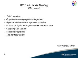 MICE All Hands Meeting PM report
