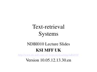 Text-retrieval Systems