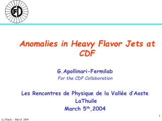 Anomalies in Heavy Flavor Jets at CDF