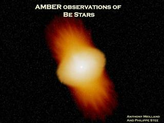 AMBER observations of  Be Stars