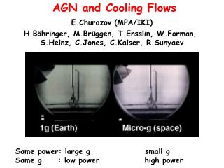 AGN and Cooling Flows