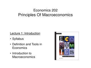 Economics 202 Principles Of Macroeconomics
