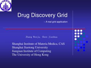 Drug Discovery Grid -- A real grid application