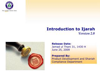 Introduction to Ijarah       Version 2.0