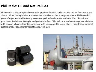 Phil Reale: Oil and Natural Gas