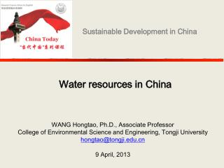 Water resources in China