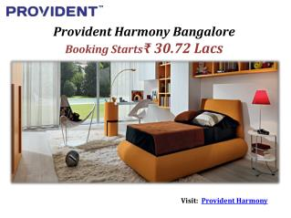 Provident Harmony Start at ₹ 37 Lacs