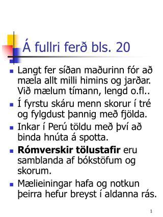 Á fullri ferð bls. 20
