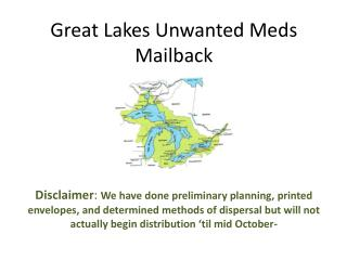 Great Lakes Unwanted Meds Mailback