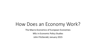 How Does an Economy Work?