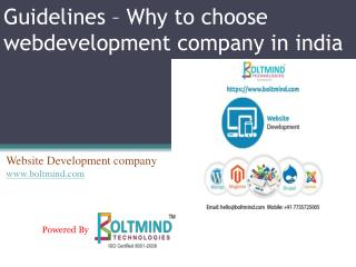 Guidelines – Why to choose webdevelopment company in india