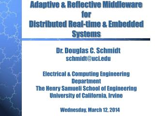 Adaptive  Reflective Middleware  for  Distributed Real-time  Embedded Systems