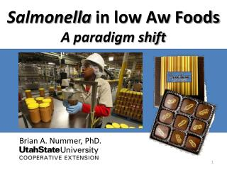 Salmonella in low Aw Foods A paradigm shift