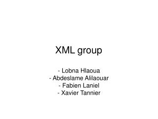 XML group