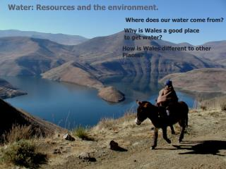 Water: Resources and the environment.