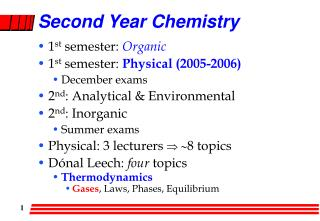 Second Year Chemistry