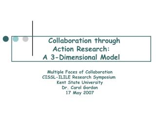 Collaboration through  Action Research: A 3-Dimensional Model