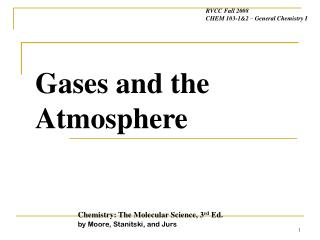 Gases and the Atmosphere