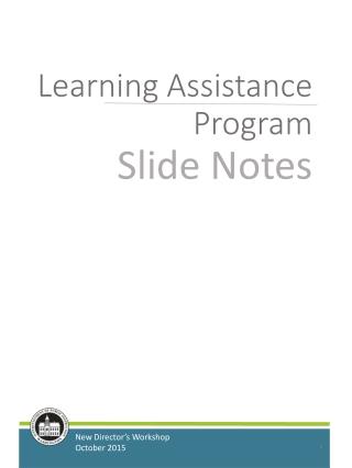 Learning Assistance Program