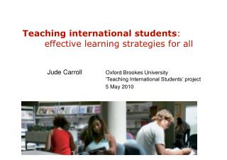 Teaching international students : 	effective learning strategies for all