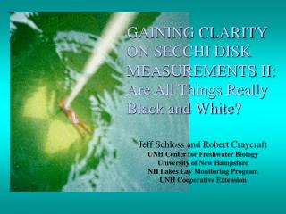 GAINING CLARITY ON SECCHI DISK MEASUREMENTS II: Are All Things Really Black and White?