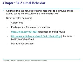 Chapter 34 Animal Behavior