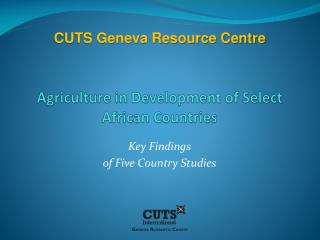 Agriculture in Development of Select African Countries