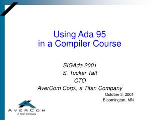 Using Ada 95  in a Compiler Course