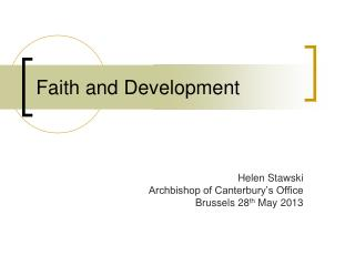 Faith and Development