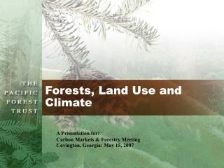 Forests, Land Use and Climate