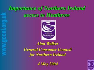Importance of Northern Ireland access to Heathrow