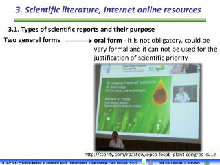 3.1.  Types of scientific reports and their purpose