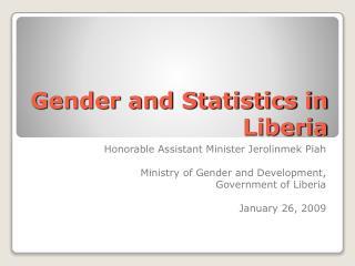 Gender and Statistics in Liberia