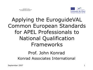 Prof. John Konrad Konrad Associates International