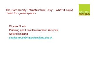 The Community Infrastructure Levy   what it could mean for green spaces