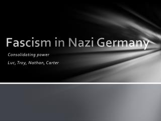 Fascism in Nazi Germany