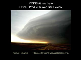 MODIS Atmosphere  Level-3 Product & Web Site Review