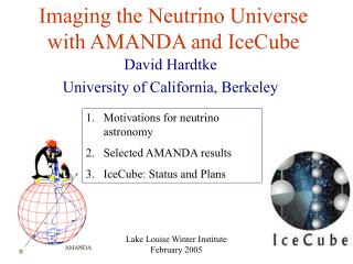 Imaging the Neutrino Universe with AMANDA and IceCube